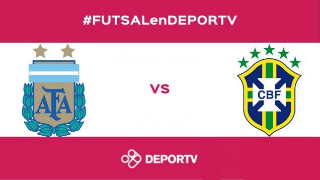 Final Copa America Futsal: Argentina-Brasil (2-4)