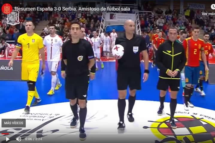 Amistoso España contra Serbia